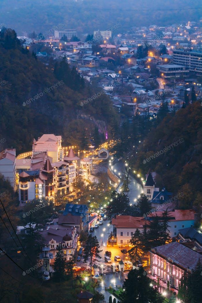 Borjomi, Samtskhe-Javakheti (Géorgie). Vue Aérienne Borjomi Citysc