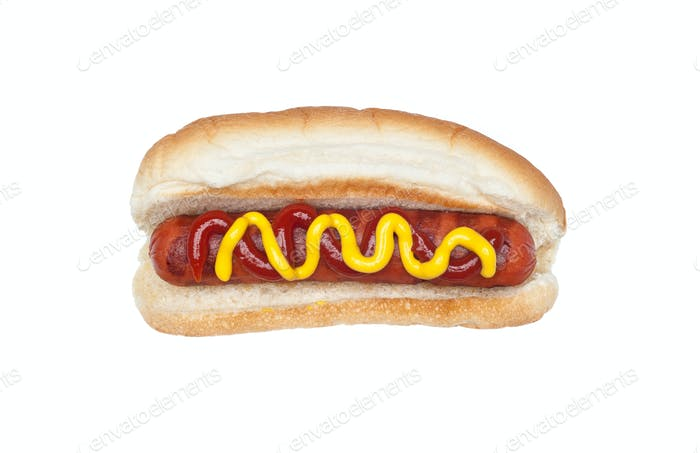 Grilled hotdog