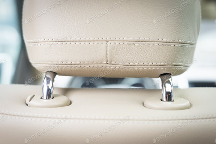 Car  leather headrest seat.