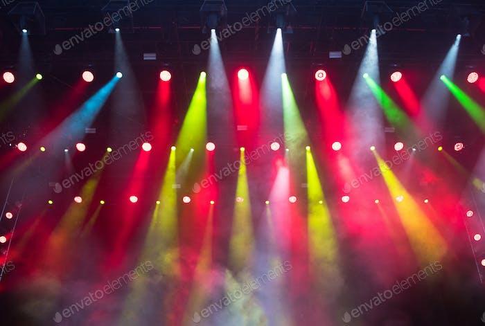 Bunte Bühnenlichter