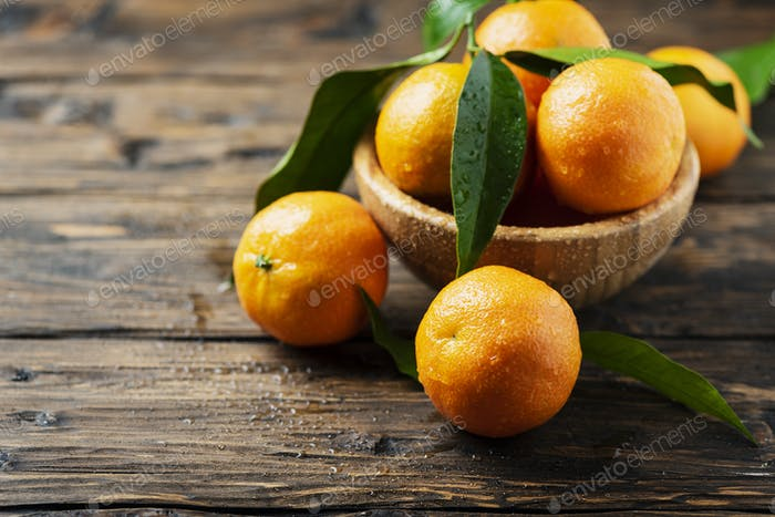 Fresh sweet mandarins