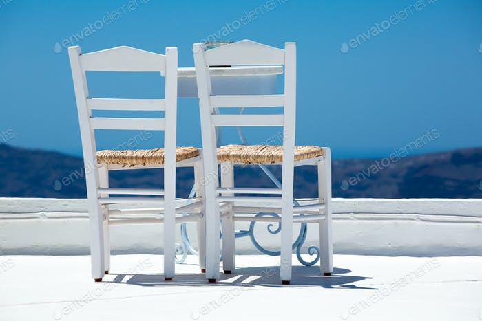 Thumbnail for Two white chairs