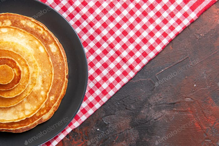 Breakfast time with homemade pancakes