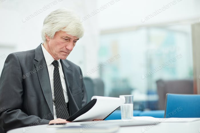 Senior Businessman Working