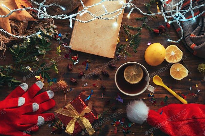 Neujahr und Weihnachten Wohnung lag oben Ansicht