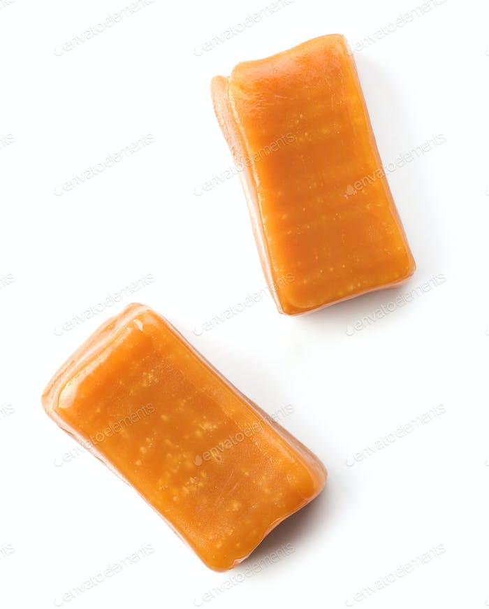 pieces of caramel