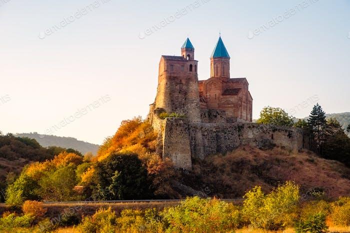 Historische Gremi Festung in Kacheti Region bei Sonnenuntergang, Georgien