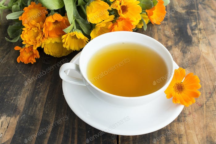 Marigold Tea , Calendula Officinalis