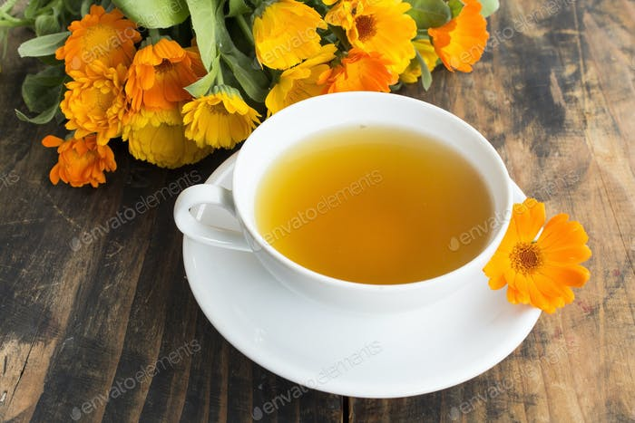 Marigold Tea , Calendula Officinalis