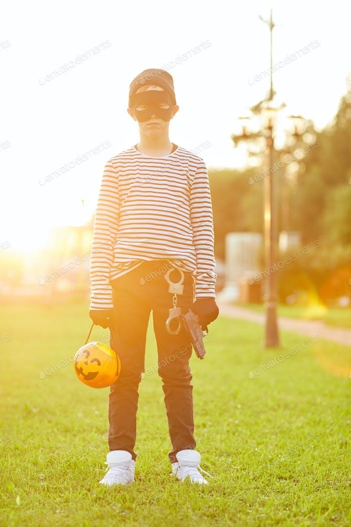 Halloween-Bandit im Sonnenlicht