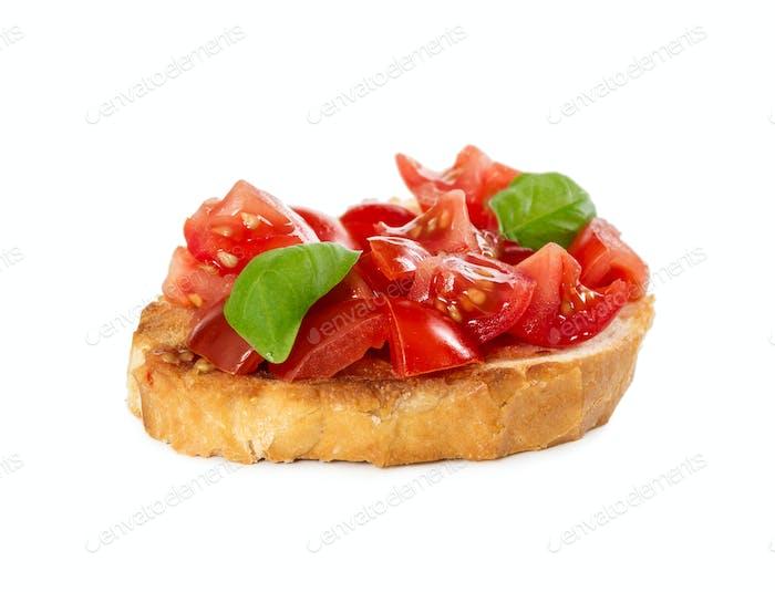 Bruschetta with fresh tomato and basil