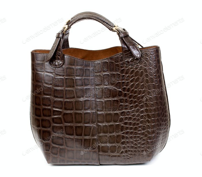 Luxury female handbag over white