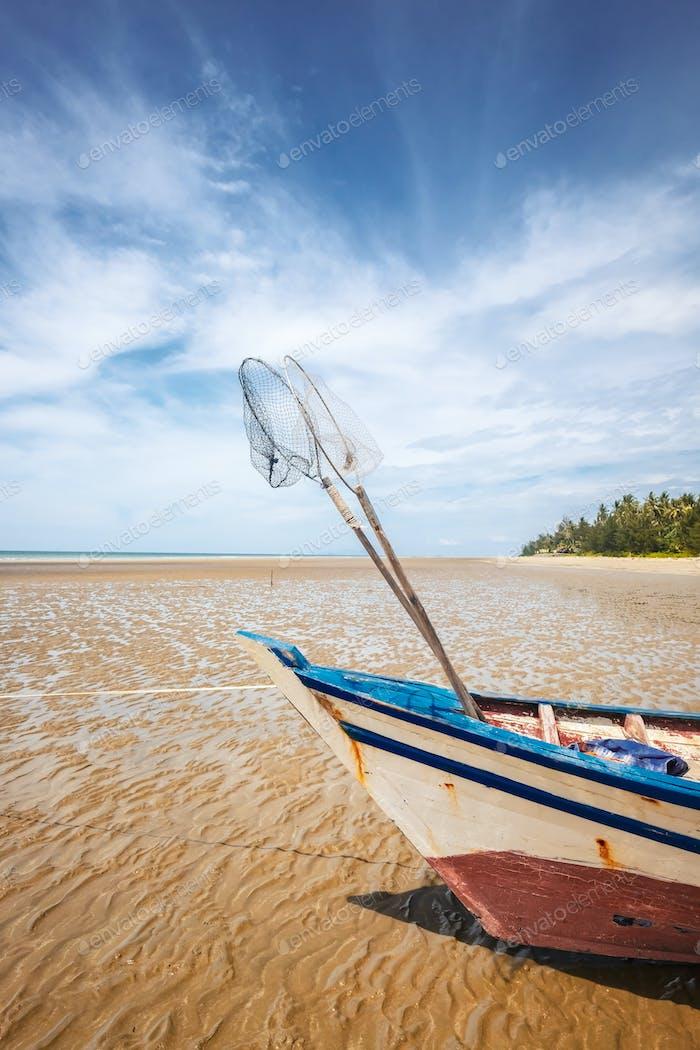 BORNEO / SARAWAK / MALAYSIA / JUNE 2014: Wonderful sand beach in