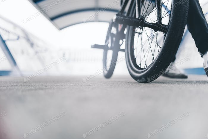 Close-up bicycle.