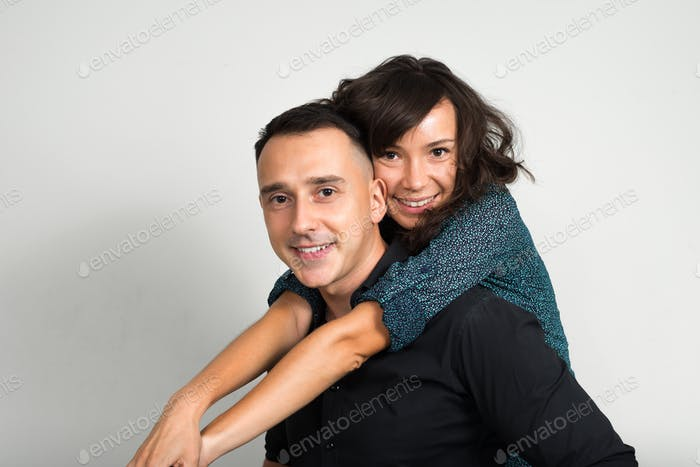 Portrait of couple together and in love