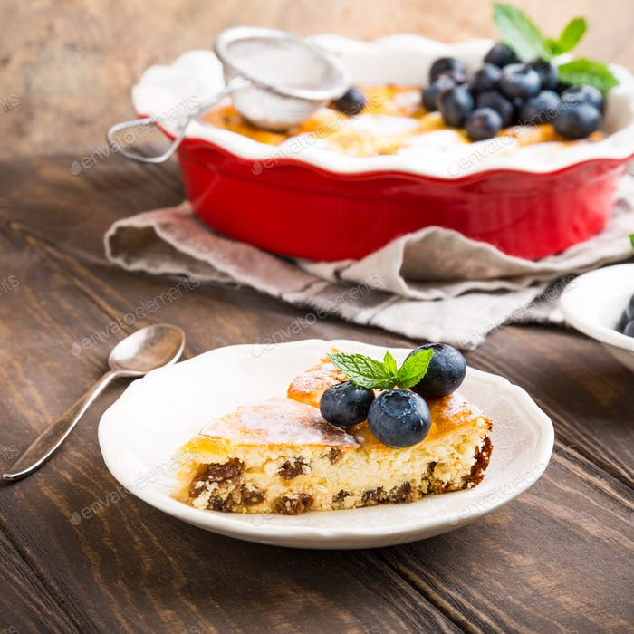 Delicious homemade cheesecake
