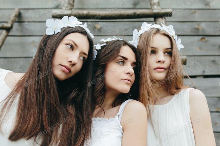 drei schöne Mädchen