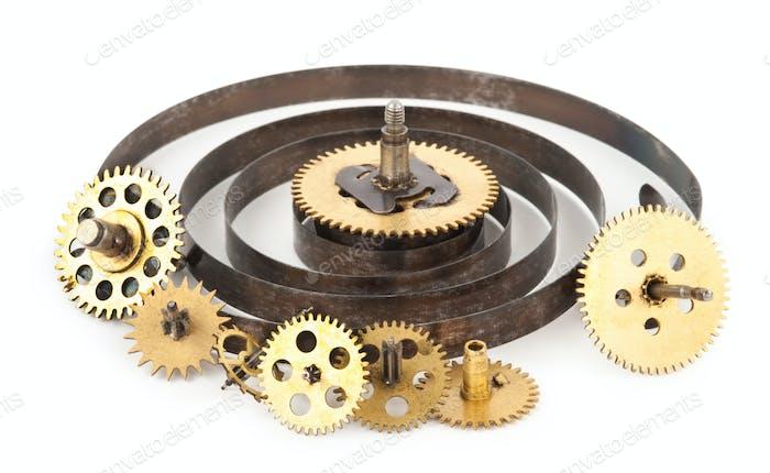 Zahnräder aus der alten Uhr
