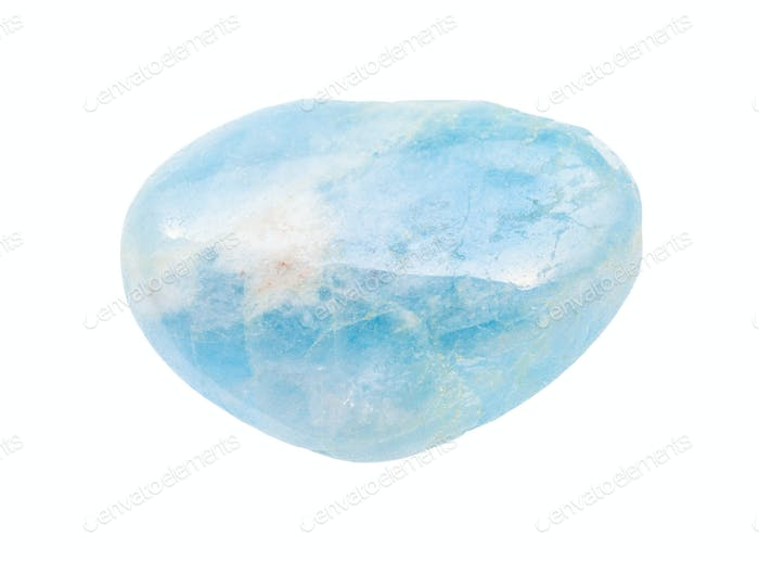 polished Aquamarine (blue Beryl) gem stone