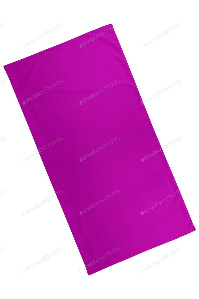 purple cloth sheet isolated on white background