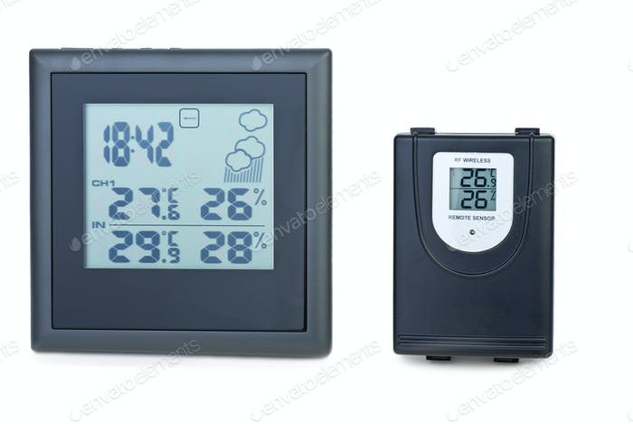 Modern digital weather station with external RF sensor