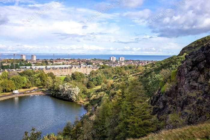 view of Edinburgh city, Scotland