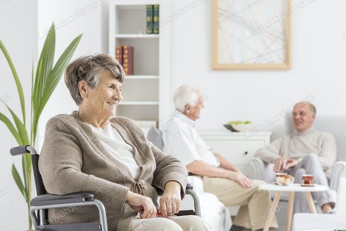 Seniors at common room