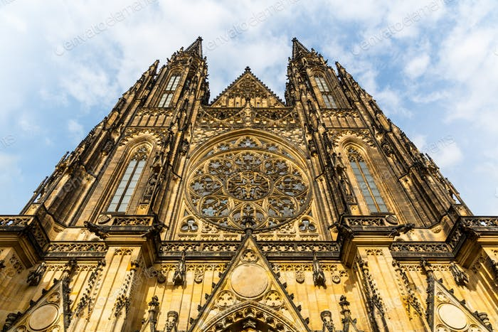 St. Vitus Cathedral facade, Prague, Czech Republic