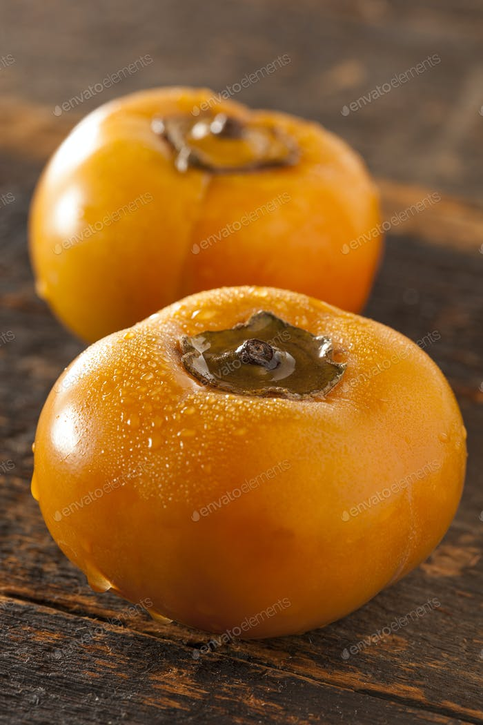 Organic Orange Persimmon Fruit