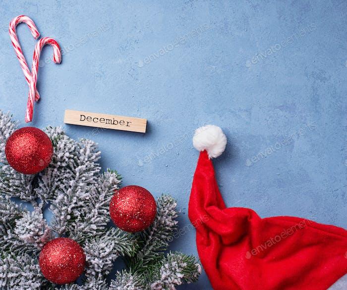 Weihnachten oder Neujahr festlichen Hintergrund