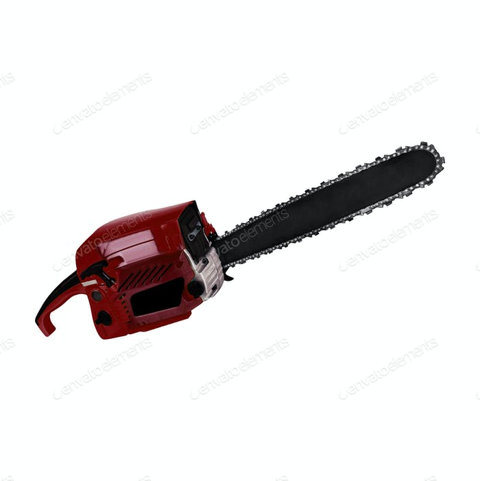 Chainsaw. isolated on white background
