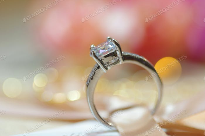 Close-up view of a diamond ring