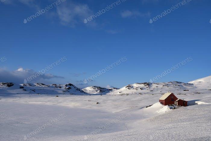 Norwegian mountain plateau Hardangervidda