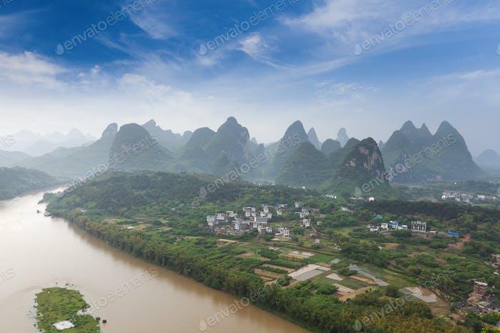 beautiful karst mountain landscape