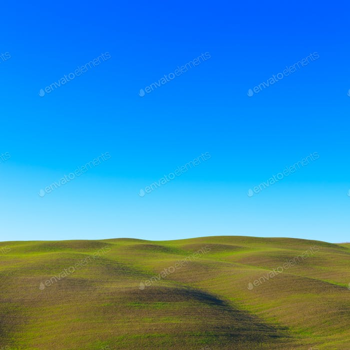 Tuscany: typical landscape. Rolling hills near Siena.