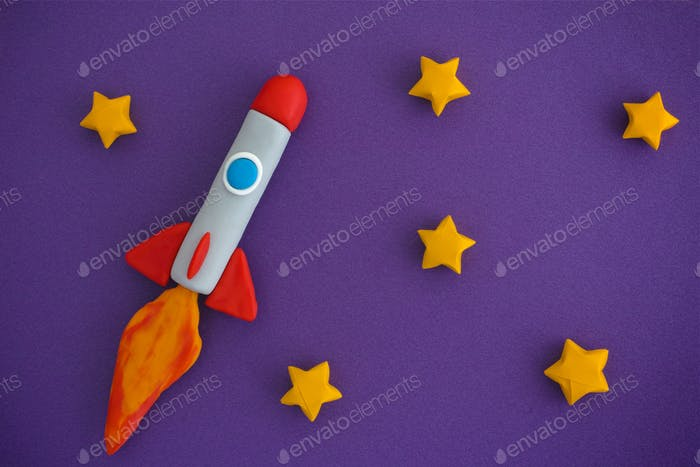 Thumbnail for Space Rocket Flying For New Ideas Through The Stars