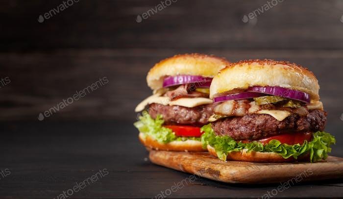 Homemade tasty beef burger