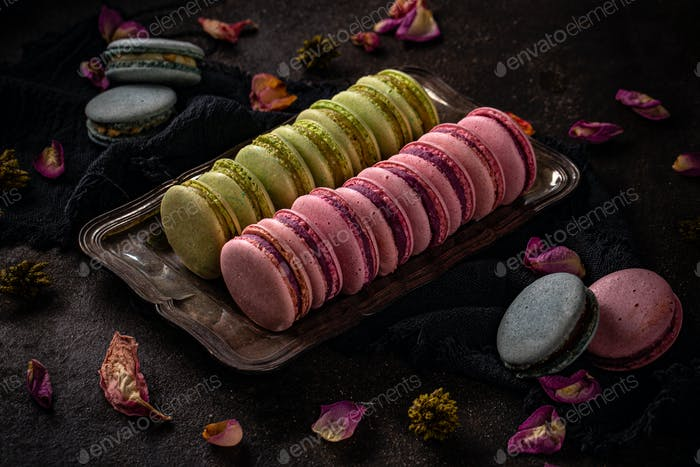 Colorful macarons concept