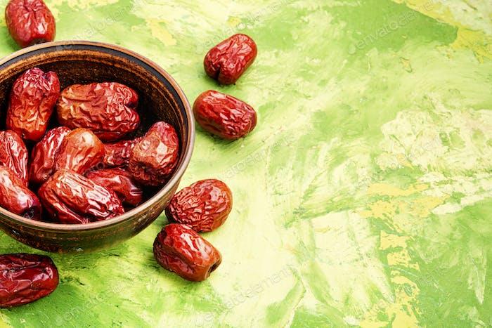 Dried unabi fruit or jujube