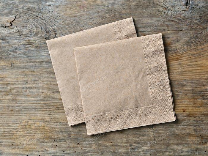 brown paper napkins