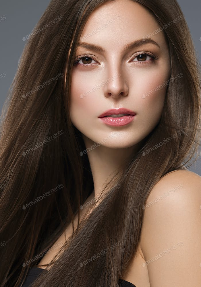 Woman Portrait Beautiful Young Model Natural make Up