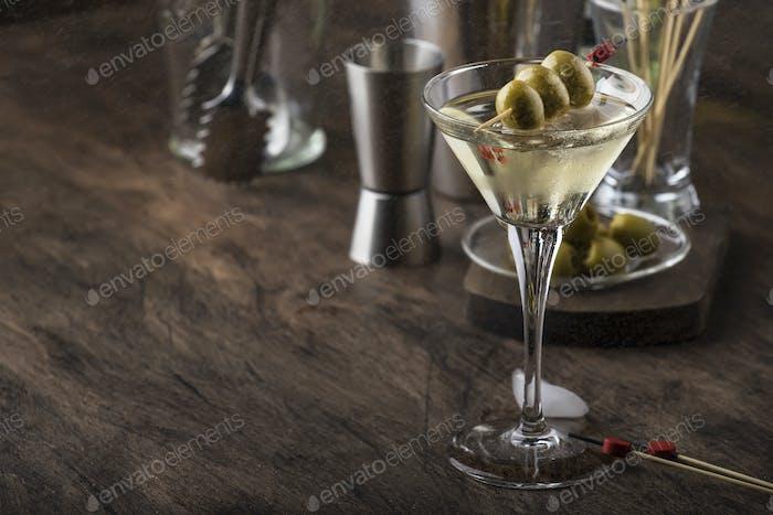 Classic Martini vodka cocktail
