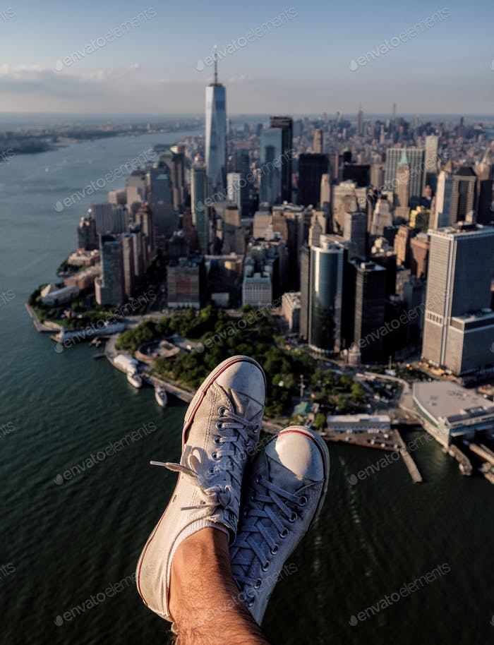 World at your feet looking over New York City