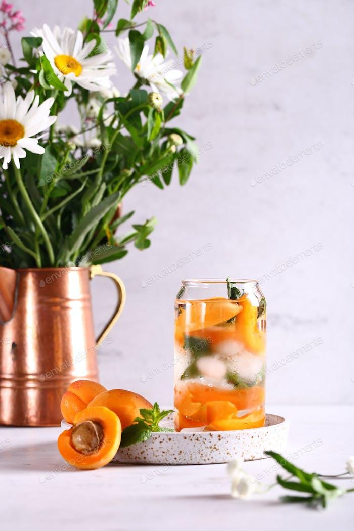 Lemonade with Fresh Apricots