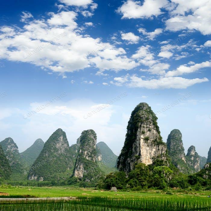 Pastoral scenery in Guilin