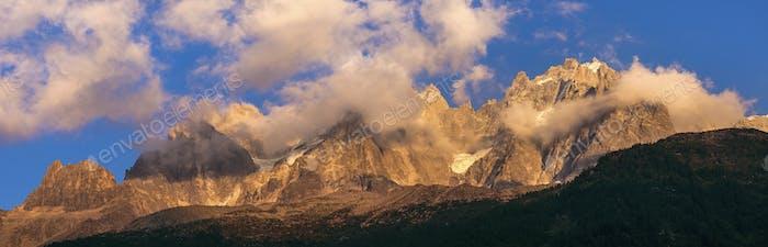 Alps peaks in Chamonix area
