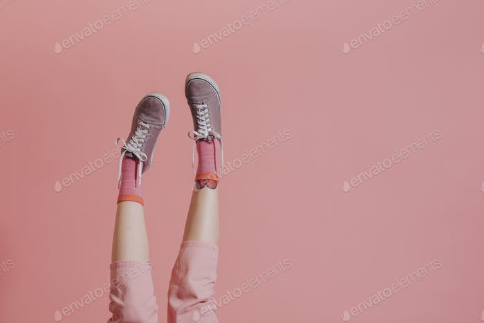 Legs up in the air