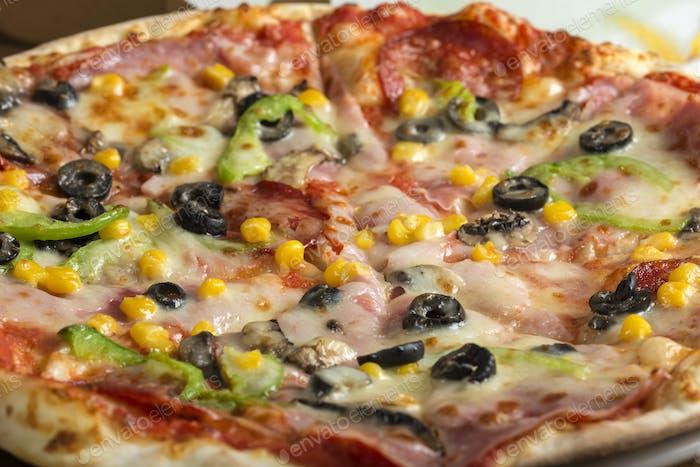 Italian Capriciosa pizza