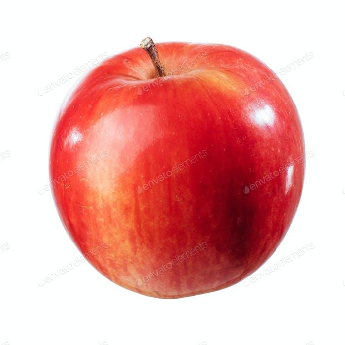 Schöner roter Apfel auf weißem Hintergrund