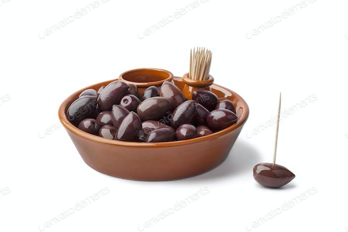 Bowl with Calamata olives